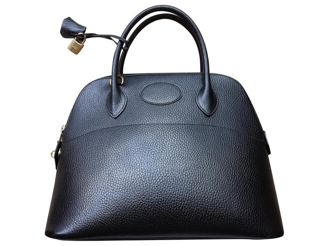 Hermès Bolide Handbags Leather Black ref.225490