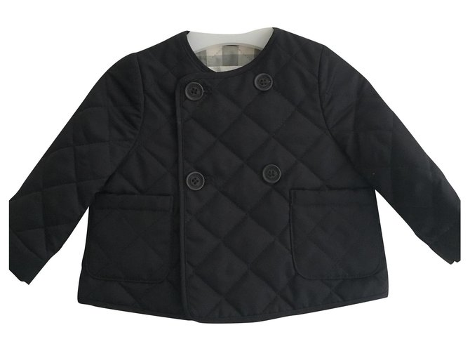 Burberry Burberry quilted jacket One piece Jacket Polyester Black ref.225704