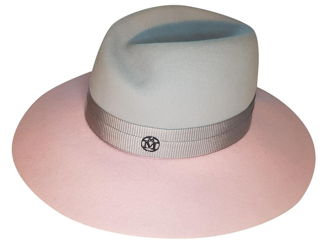 Maison Michel Hats Hats Other Pink,Grey ref.225712