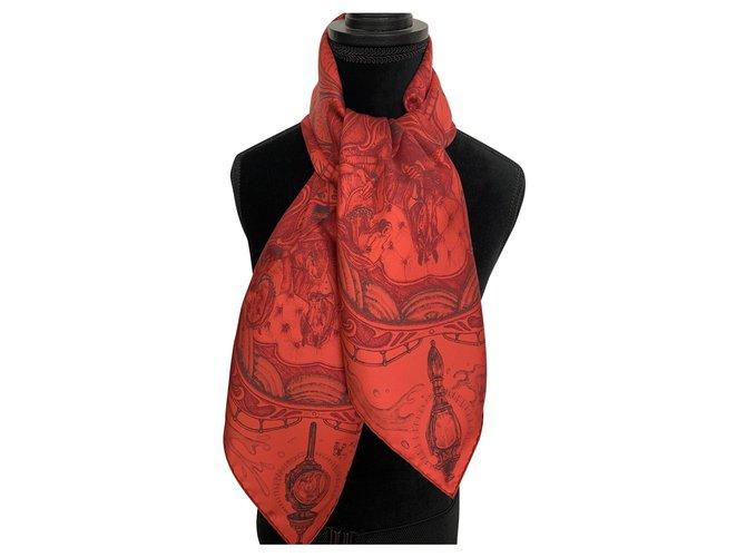 Hermès Silk scarves Silk scarves Silk Red ref.225776