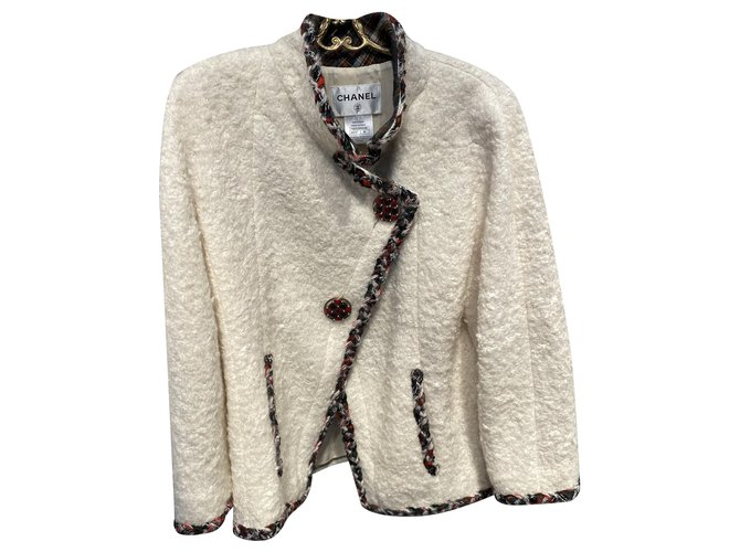 Chanel EDINBURGH Jackets Wool,Viscose,Mohair Cream ref.226086