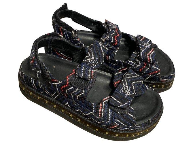 Chanel Dad Sandals Tweed Multiple colors ref.226088