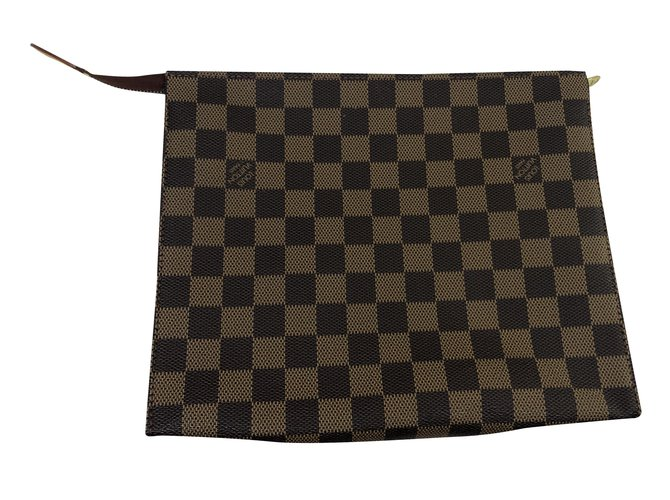 Louis Vuitton Trousse Toilette Purses, wallets, cases Cloth Brown ref.226102