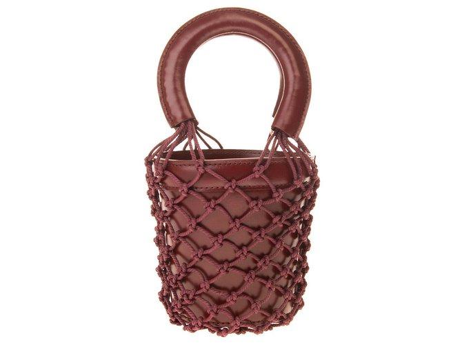 Staud Handbags Dark red Leather  ref.226197