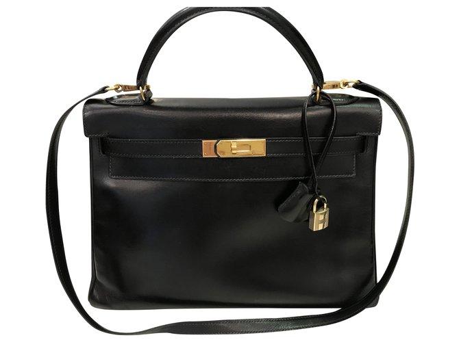 Hermès Kelly Black Leather  ref.226985