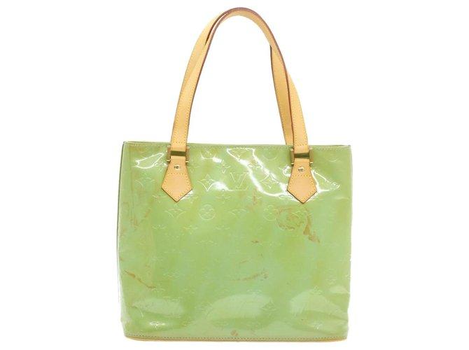 Louis Vuitton Louis Vuitton Houston Handbags Patent leather Green ref.227445
