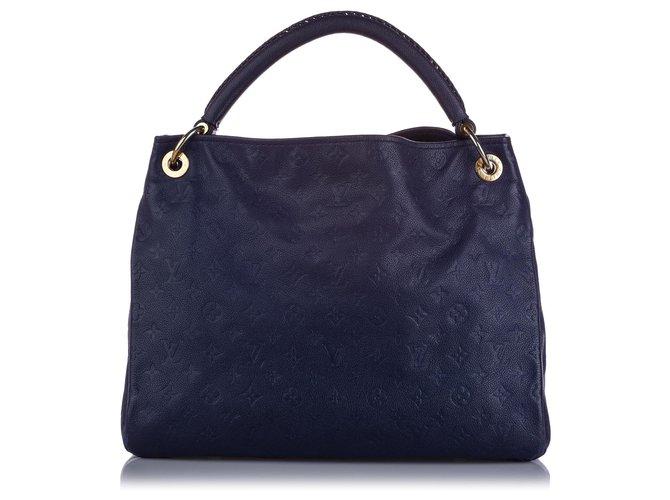 Louis Vuitton Louis Vuitton Blue Monogram Empreinte Artsy Mm Handbags Leather Other Blue Navy Blue Ref 227691 Joli Closet