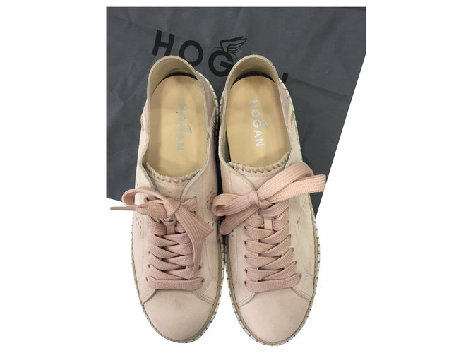 Hogan snikers Pink Suede ref.228123 - Joli Closet