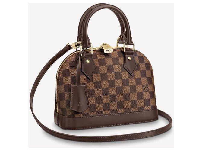 Louis Vuitton LV Alma bb new DE Handbags Leather Brown ref.228579