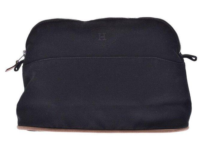 Hermès Hermes Bolide Handbags Cotton Black ref.229125