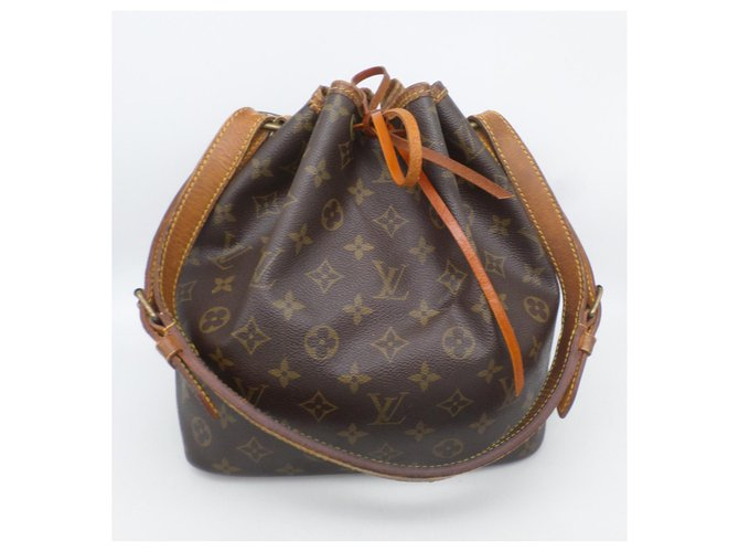 Louis Vuitton Noe PM Handbags Cloth Brown ref.229185