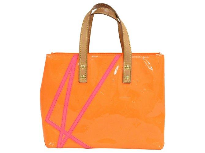 Louis Vuitton Louis Vuitton Reade Handbags Patent leather Orange ref.229207