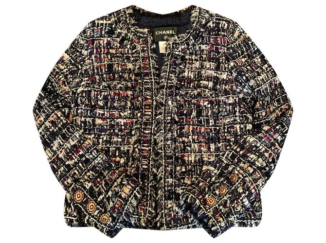 Chanel expensive tweed jacket Multiple colors  ref.229494
