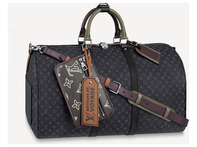 Louis Vuitton LV Keepall patchwork new Bags Briefcases Leather Grey ref.229496