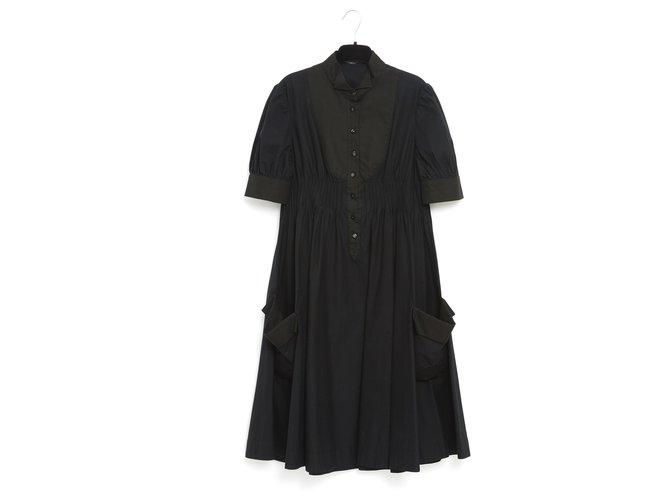 Alexander Mcqueen BLACK BABYDOLL FR36 Dresses Cotton Black ref.230221