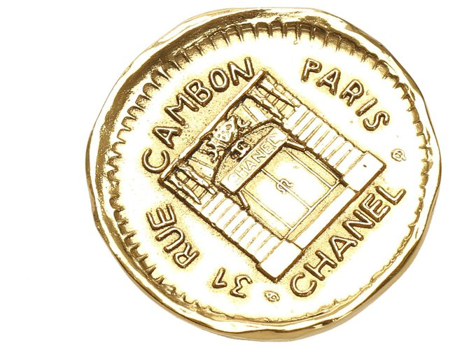 Chanel Chanel Gold Gold-Tone Brooch Pins & brooches Other,Metal Golden ref.230797