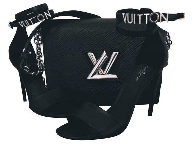 Louis Vuitton CALL ME Sandals Exotic leather Black ref.230992