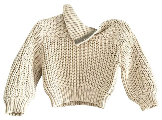 Brunello Cucinelli NEW 1,5K$ sweater Knitwear Cotton Cream ref.238899
