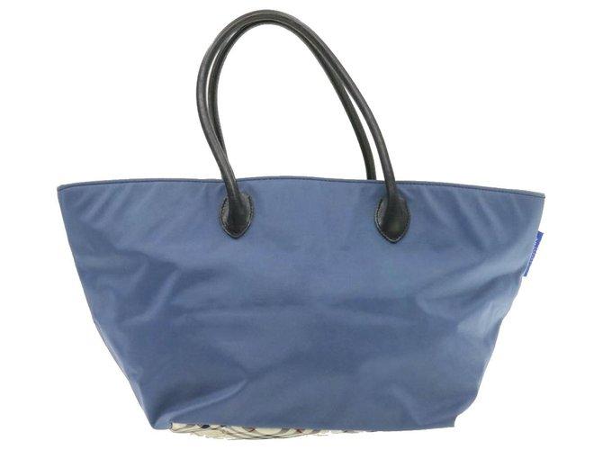 Burberry Burberry handbag Handbags Leather Blue ref.231947