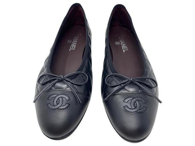 Chanel chanel ballerine quiltet classic flap new Ballet flats Leather Black ref.232836