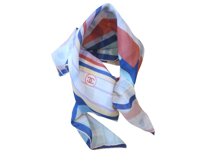 Chanel Silk scarves Silk scarves Cotton Multiple colors ref.232911