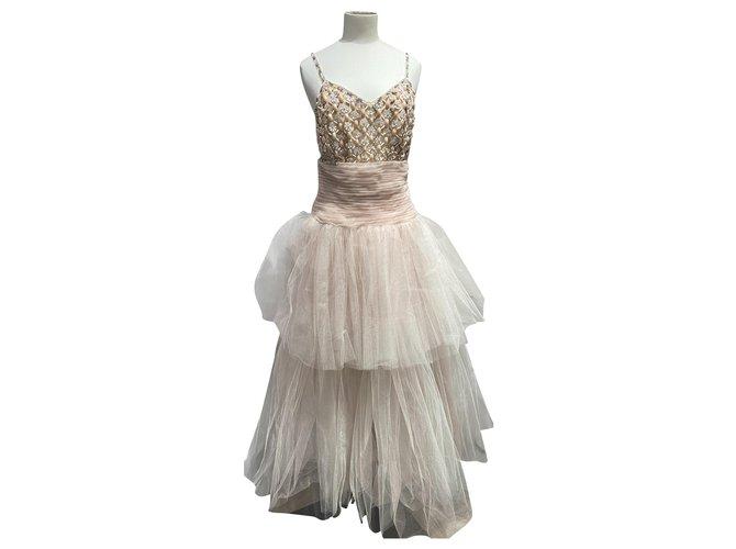 Chanel Dresses Dresses Silk Pink ref.232979