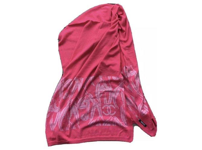 Chanel Scarves Scarves Cashmere Pink ref.232990