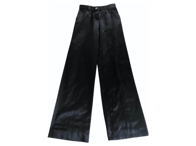 Chanel Pants, leggings Pants, leggings Silk Black ref.233029