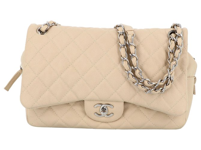 Chanel Chanel flap bag Handbags Leather Beige ref.233153