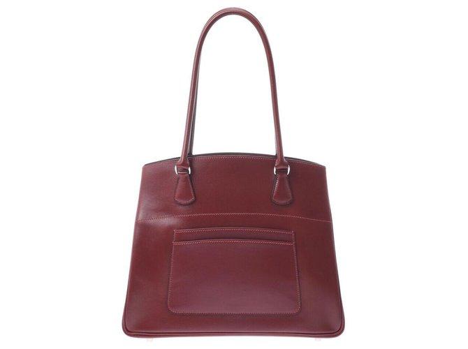 Hermès Hermès Handbag Handbags Leather Red ref.233419