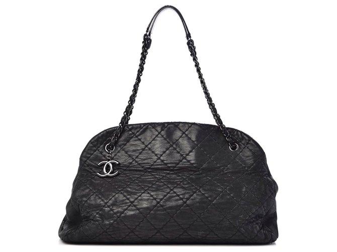 Chanel Mademoiselle Handbags Leather Black ref.233420