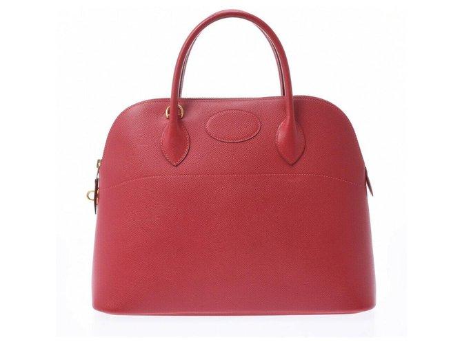 Hermès Hermes Bolide Handbags Leather Red ref.233865
