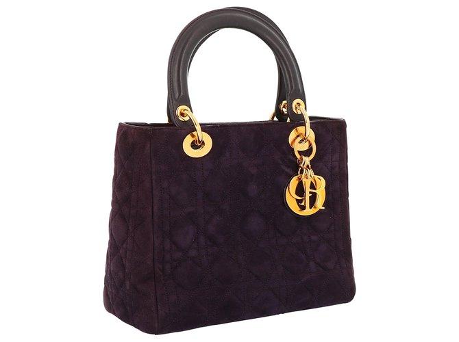 Dior Dior Lady Dior Handbags Suede Other ref.233940