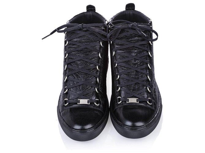 balenciaga high top leather