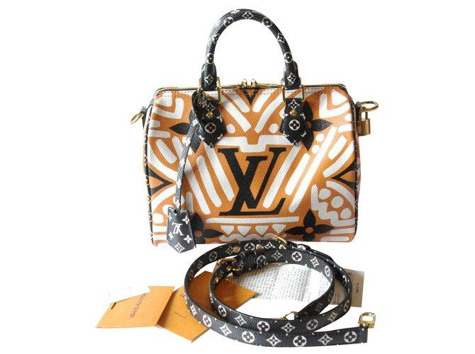 Louis Vuitton Speedy Crafty Handbags Leather,Cloth Caramel ref.234470