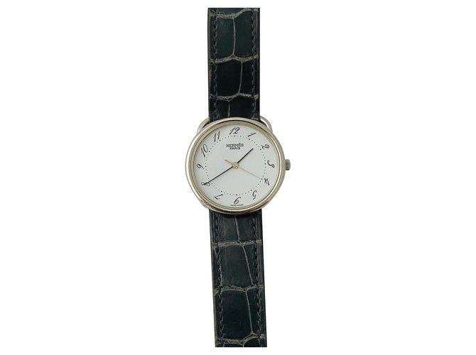Hermès hoop Fine watches Steel White ref.234969