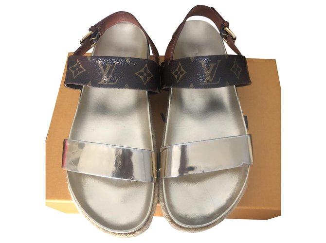 Louis Vuitton Sandals Sandals Leather Brown ref.235037