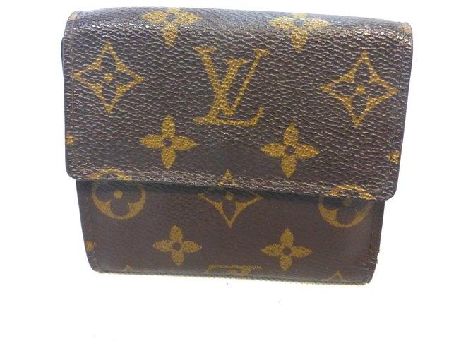 Louis Vuitton ELISE MONOGRAM Purses, wallets, cases Leather Brown ref.235262
