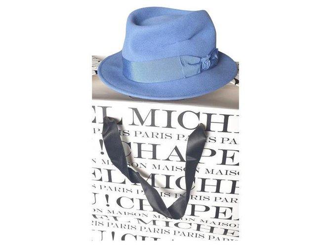 Maison Michel Beautiful new Maison Michel hat Hats Wool Light blue ref.235841
