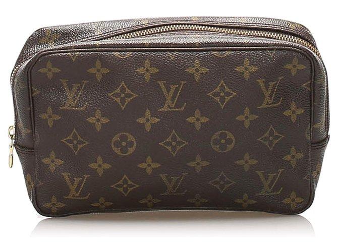 Louis Vuitton Louis Vuitton Brown Monogram Trousse Toilette 23 Purses, wallets, cases Cloth Brown ref.236014