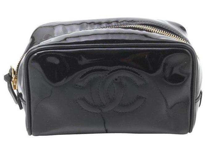Chanel clutch bag Black Patent leather  ref.236427