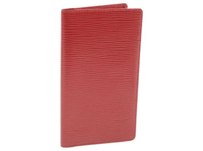 Louis Vuitton Louis Vuitton Brazza Purses, wallets, cases Leather Red ref.236442
