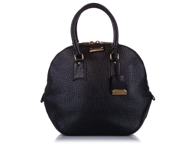 Burberry Burberry Black Medium Orchard Leather Handbag Handbags Leather,Pony-style calfskin Black ref.236575
