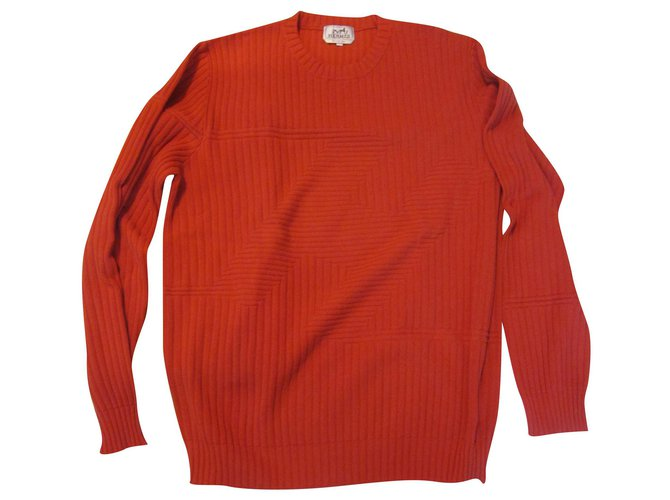 Hermès Hermes Pullover Sweaters Cashmere Red ref.237558