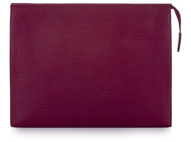 Louis Vuitton Louis Vuitton Pink Epi Toiletry Pouch 26 Purses, wallets, cases Leather Pink ref.237604