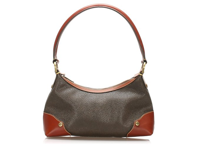 Mulberry Mulberry Brown Leather Shoulder Bag Handbags Leather,Pony-style calfskin Brown,Dark brown ref.238497