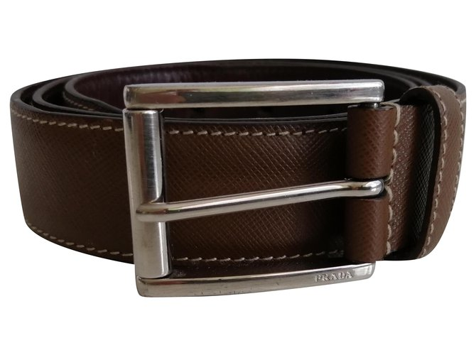 Prada Belts Belts Leather Brown ref.238641
