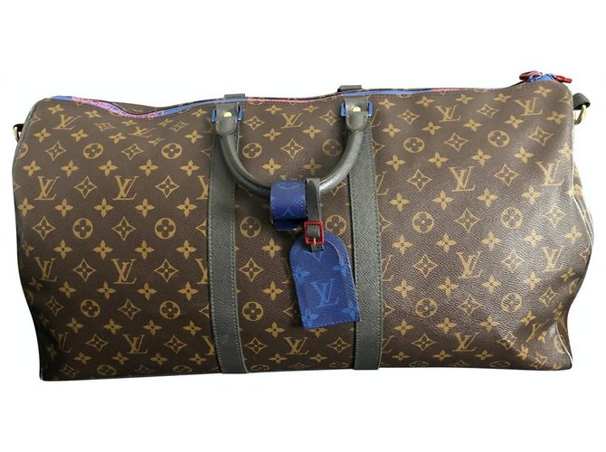 Louis Vuitton Travel bag Travel bag Cloth Brown ref.238707