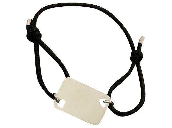 Bracelets Dior Bracelets Acier Noir,Argenté ref.238773