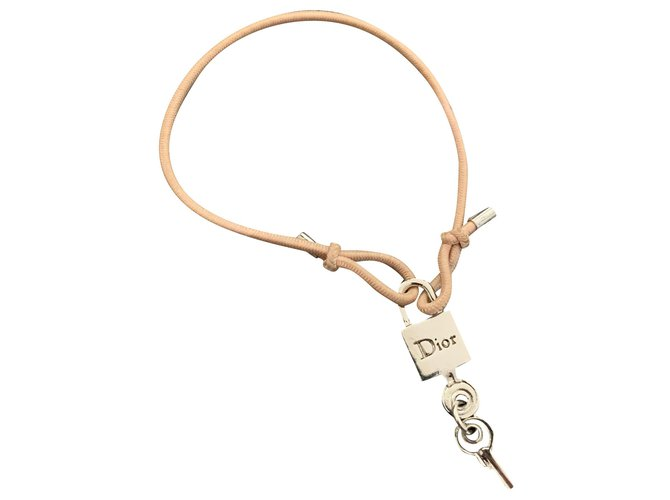 Bracelets Dior Bracelets Acier,Corde Argenté,Rose ref.238777